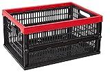 CURVER Allibert 229890–Caja Plegable, plástico, Negro/Rojo, 47,5x 35x 5,6cm