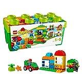 LEGO DUPLO-10572 Duplo My First Caja de Diversión, Juguete de Preescolar de Construcción Niñas de 1 Año y Medio a 5 Años Divertido y Educativo, Color Surtido, Miscelanea (10572)